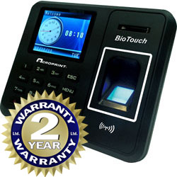 Acroprint BioTouch Time Clock available at www.raleightime.com