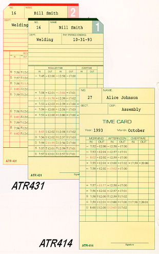 Acroprint ATR414 and ATR431 time cards at www.raleightime.com