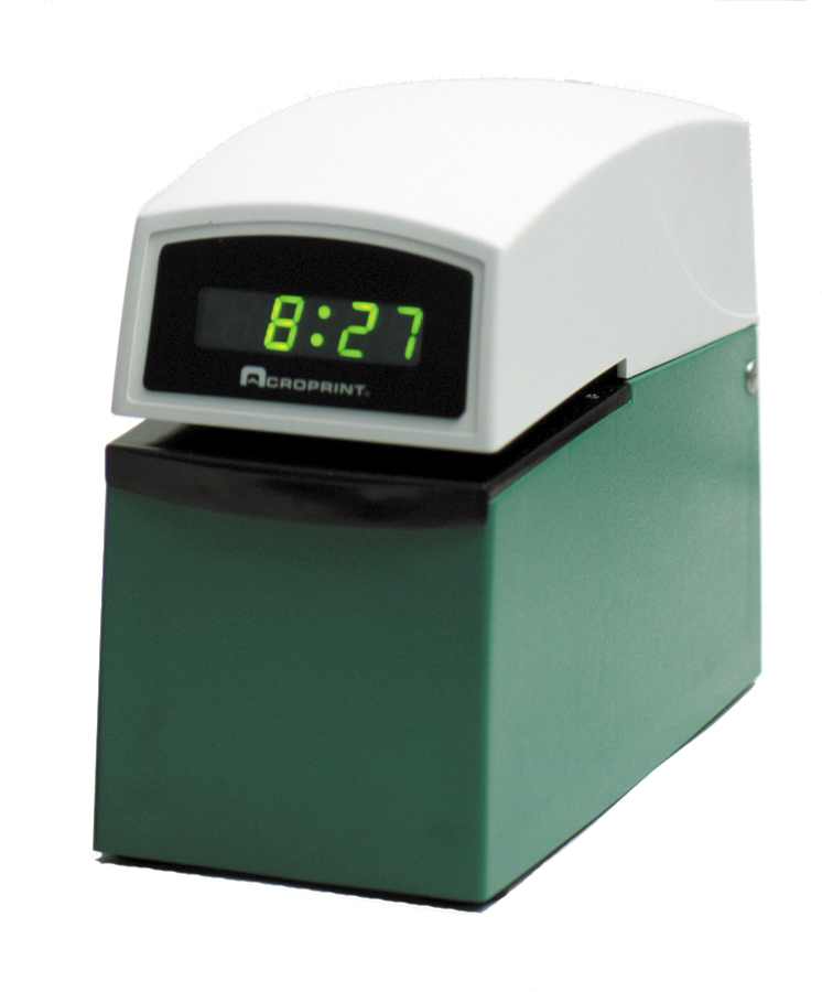 Acroprint E series time / date / number stamp at www.raleightime.com