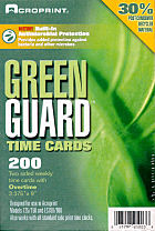 Acroprint green guard antimicrobial time cards at www.raleightime.com