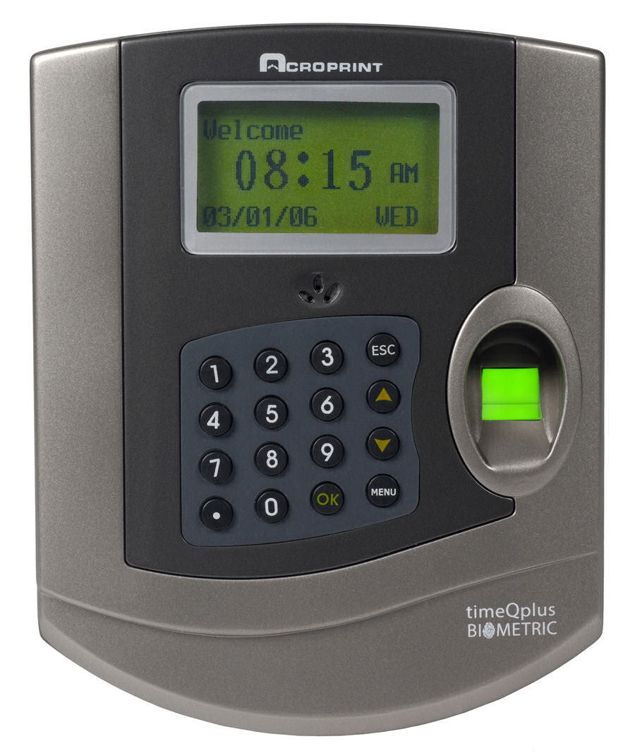Acroprint timeQplus BIOMETRIC fingerprint time & attendance system at www.raleightime.com