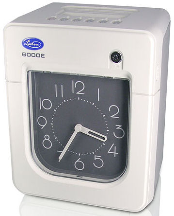 Lathem 6000E time clock at www.raleightime.com