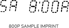 800P time clock sample print at www.raleightime.com
