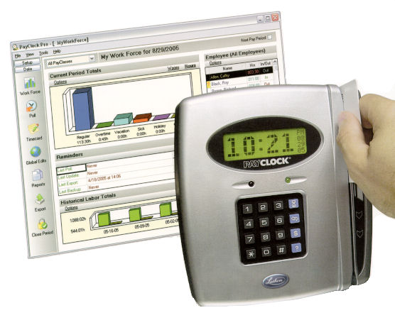 Lathem PayClock Pro PC400 Time and Attendance Badge System at www.raleightime.com