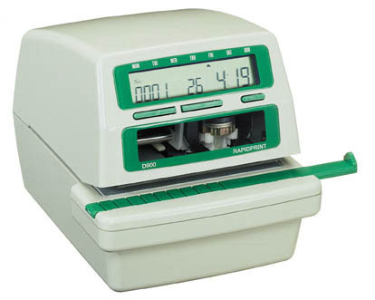 Rapidprint D900 time date and number stamp at www.raleightime.com